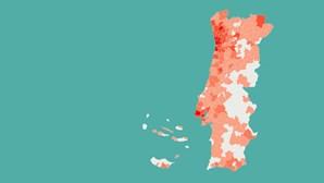Braga e Matosinhos já têm mais de mil casos de covid-19. Saiba quantos casos tem o seu concelho