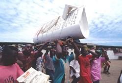 Caixões originais no Gana