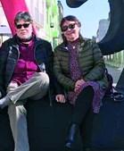 Luis Sepúlveda com a mulher, Carmen Yáñez, em fevereiro na Póvoa do Varzim