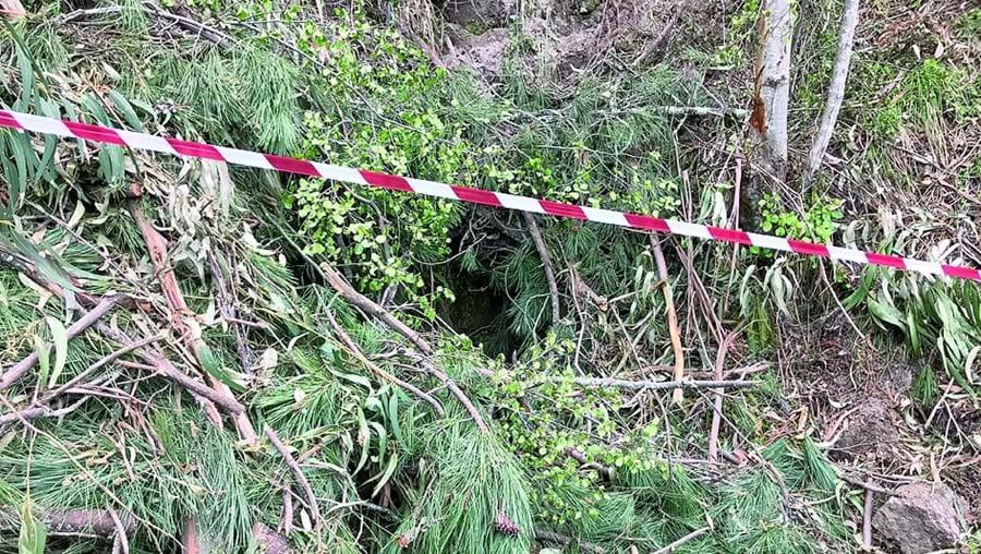 Local onde foi encontrado o corpo do homem de 67 anos