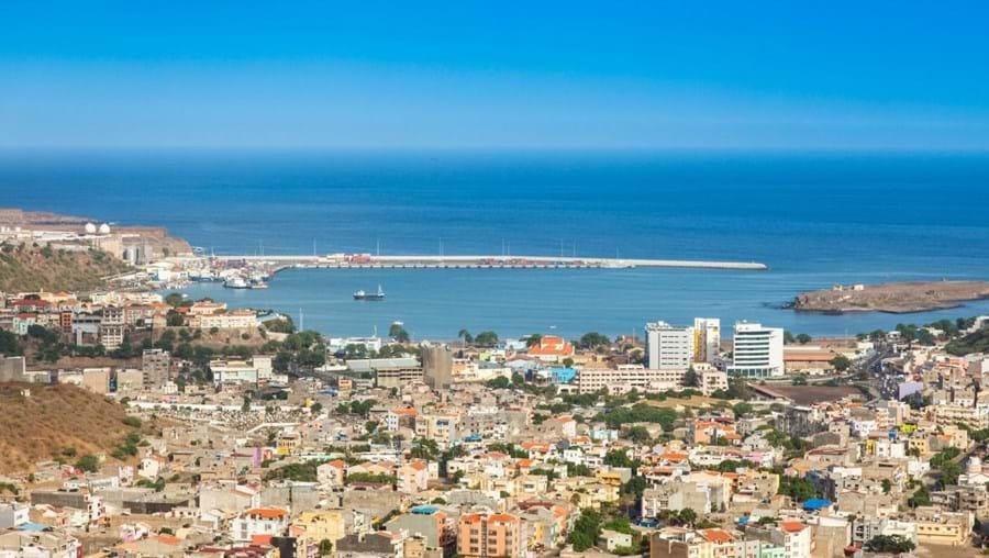 Vista geral da cidade da Praia, Cabo Verde