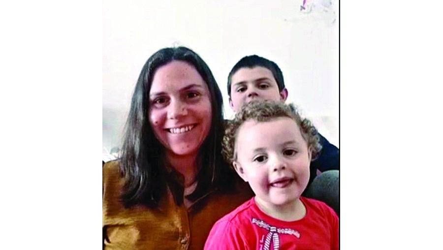 Paula Ruivo com os filhos