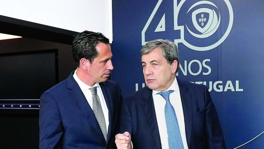 Pedro Proença e Fernando Gomes, presidentes da Liga e da Federação