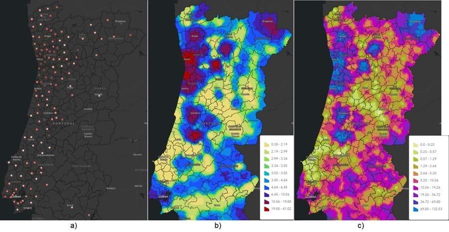 Os três mapas disponíveis que avaliam o risco de ser infetado pelo coronavírus em cada concelho de Portugal