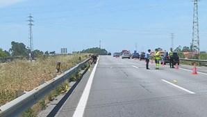 Motociclista morre em violenta colisão na A28 na Póvoa de Varzim