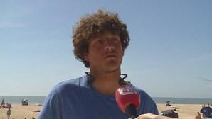 Diogo entrou no mar com um cinto de salvamento para resgatar jovem à deriva em Alcobaça
