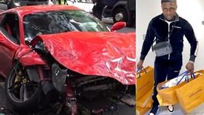 'Rapper' escapa a choque de Ferrari contra autocarro