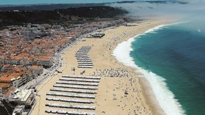 Praia da Nazaré interdita a banhos