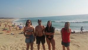Jovem de 18 anos resgatada na praia de Cortegaça em Ovar