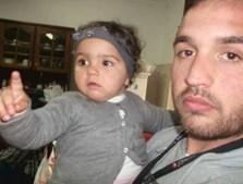 Valentina com o pai, Sandro