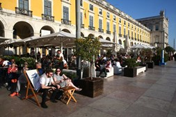Esplanada em Lisboa
