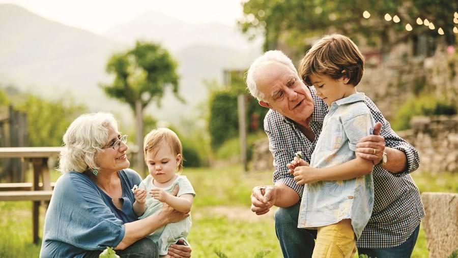 Convívio entre avós e netos