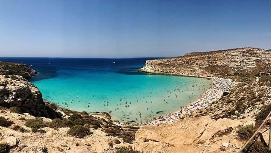 Ilha italiana de Lampedusa