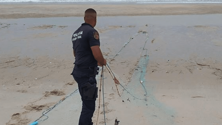 Polícia Marítima apreende seis redes de pesca em praias entre Espinho e Esmoriz