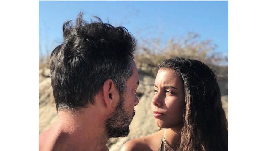 Cláudio Ramos e a filha Leonor