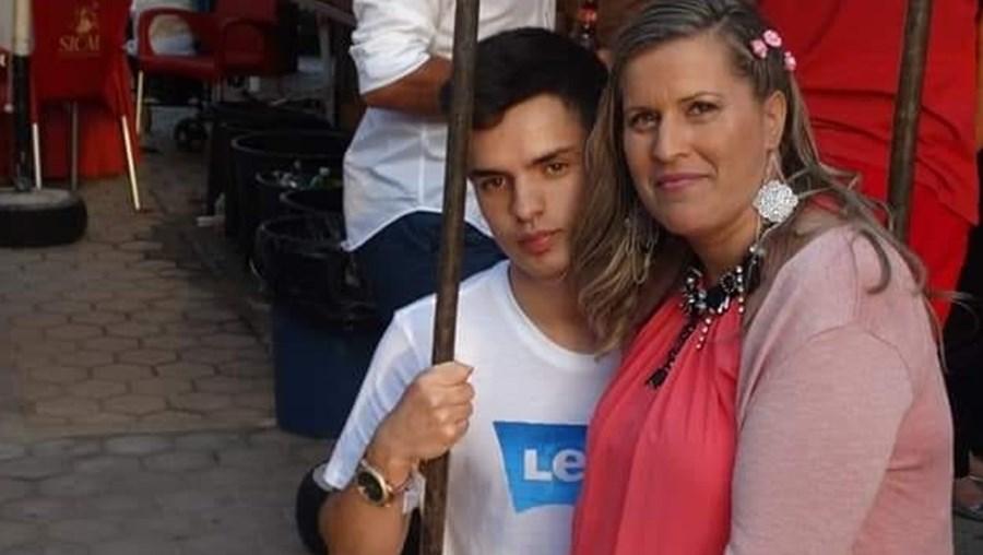 Alcino Roque e a mãe