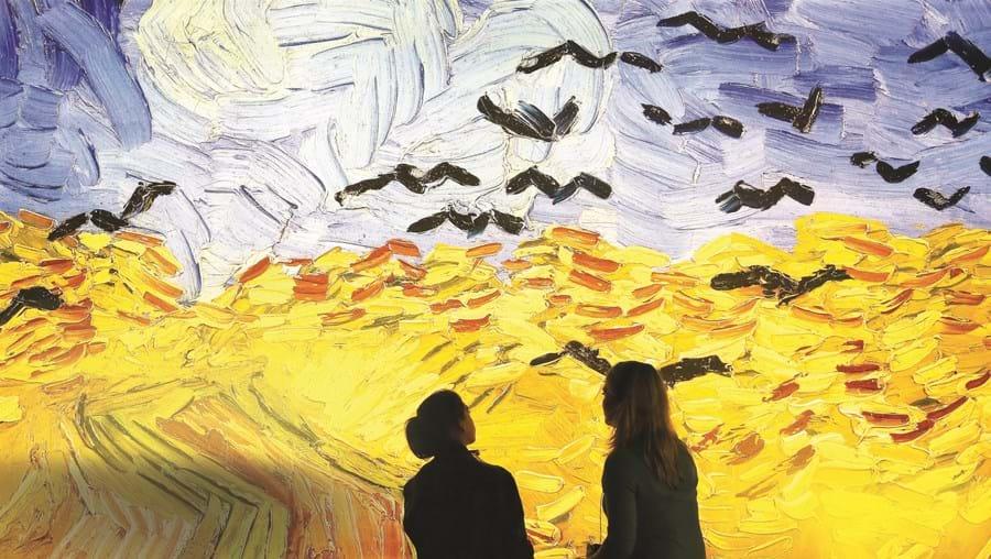 Na exposição 'Meet Vincent van Gogh', o público é convidado a tocar e a interagir