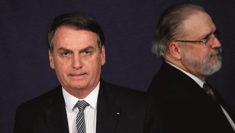 Jair Bolsonaro, presidente do Brasil, com o Procurador-geral Augusto Aras