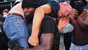 """""""A vida dele estava em perigo"""", conta homem negro que salvou manifestante de extrema-direita em Londres"""