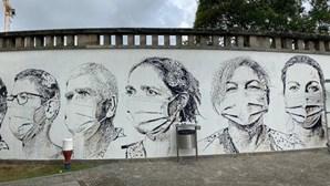A homenagem de Vhils aos profissionais do hospital de São João