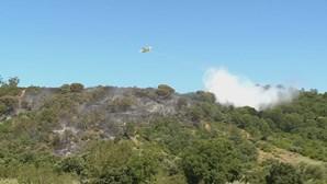 Quatro meios aéreos e mais de 70 bombeiros combatem incêndio na Azambuja