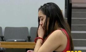 A jovem só chorou quando lhe foi negada fiança