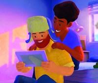 Greg e Manuel são um casal gay em 'Out'