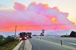 Mais de 300 operacionais foram ontem mobilizados para o combate ao fogo