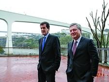 Rui Moreira e Eduardo Vítor Rodrigues, presidentes de Porto e Gaia