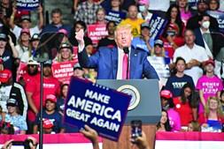Presidente norte-americano fez o seu primeiro comício pré-campanha depois da paragem obrigatória devido à pandemia