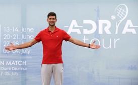Tenista sérvio Novak Djokovic