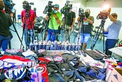 PSP apreendeu dezenas de artigos relacionados com os ataques aos rivais e às casas de jogadores do Benfica