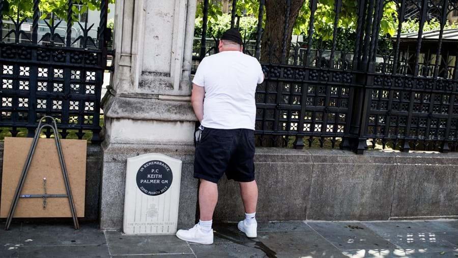Homem fotografado a urinar junto de memorial de 'polícia herói' em Londres