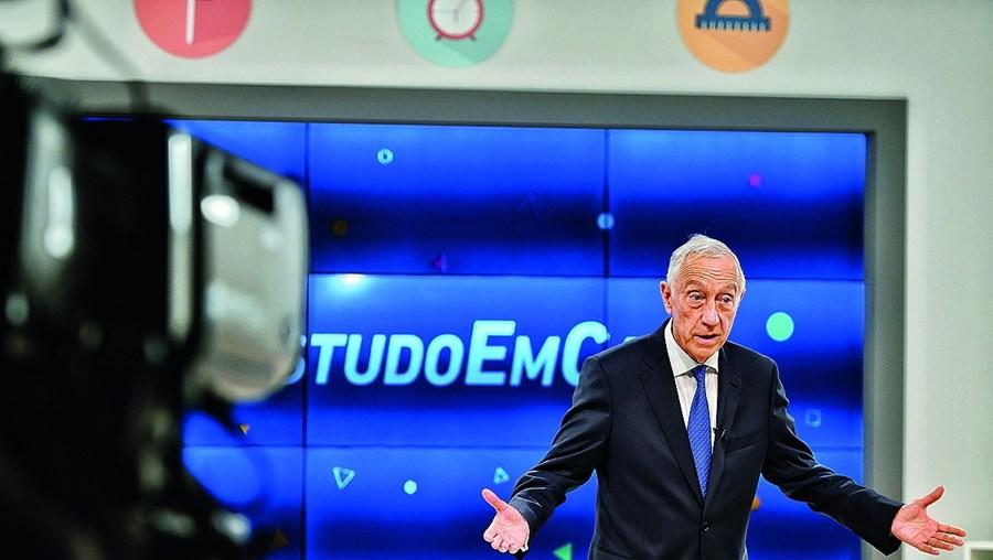 Marcelo Rebelo de Sousa esteve na rúbrica 'Estudo em Casa' em junho