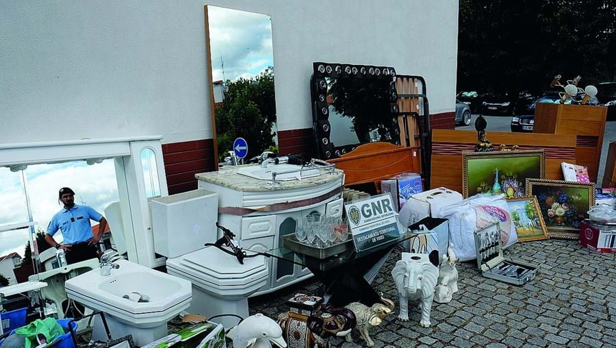 Recheio da habitação de uma família de emigrantes de Viseu que foi levado pelo grupo de seis assaltantes