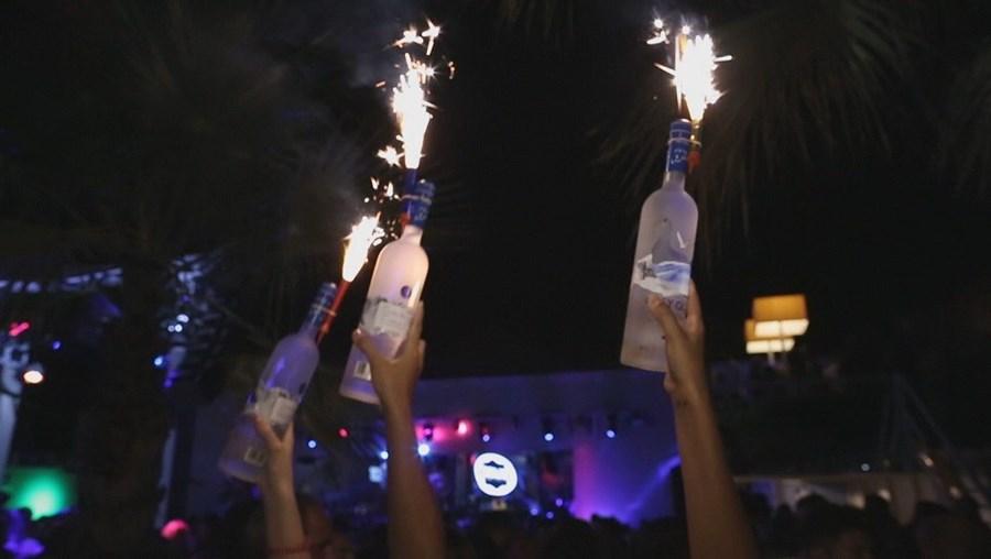 Festa ilegal em Lagos