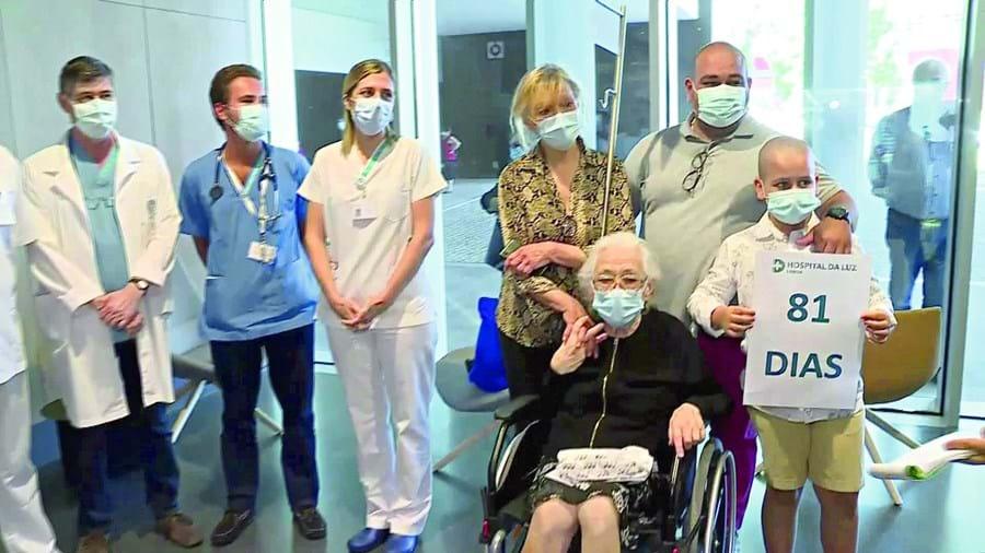 Odete do Carmo reencontrou ontem a família, num momento emocionante