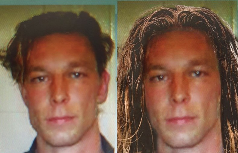 Fotomontagem de Christian Brueckner em 2007 com o cabelo comprido, com base numa fotografia real do suspeito de 2006