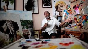 Pintor inspirou-se na pandemia para retratar o mundo e Angola na era covid-19