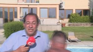 Repórter da CMTV atirado a piscina durante festejos dos Super Dragões em Tondela