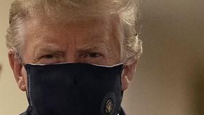 Donald Trump aparece com máscara pela primeira vez desde início da pandemia. Veja as imagens