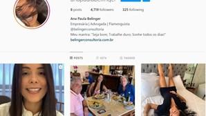 Instagram reativa conta da advogada envolvida em escândalo amoroso com Jorge Jesus
