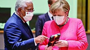 Costa e Merkel querem ritmo elevado na vacinação contra a Covid-19