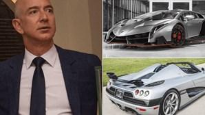 Fortuna de Bezos cresce 13 mil milhões num dia. Veja a colecção de carros do patrão da Amazon!