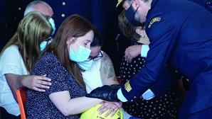 """""""Bombeiro exemplar"""" que morreu em incêndio em Leiria lembrado com sirenes"""
