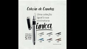 Coleção de canetas.