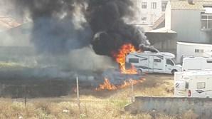 Incêndio em parque de caravanas de Ílhavo