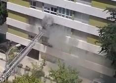 Dois bombeiros feridos em combate de incêndio em Oeiras