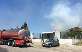 Incêndio consome zona de mato junto ao bairro da Triana em Rio Tinto
