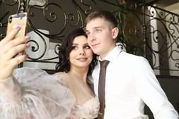 Marina e o atual marido